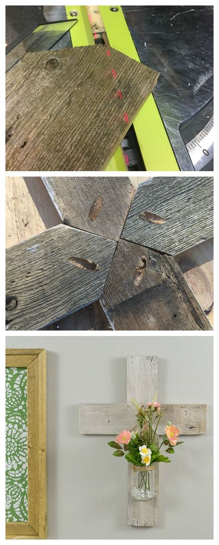 rustic whitewashed wooden cross scrap wood crafts scrap