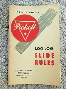 Vintage 1953 Pickett Slide Rule Manual Book Log Log Guide
