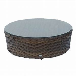 ratana portofino sectional 40quot round coffee table w clear With 40 inch round glass coffee table