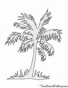 Palm, Tree, Stencil