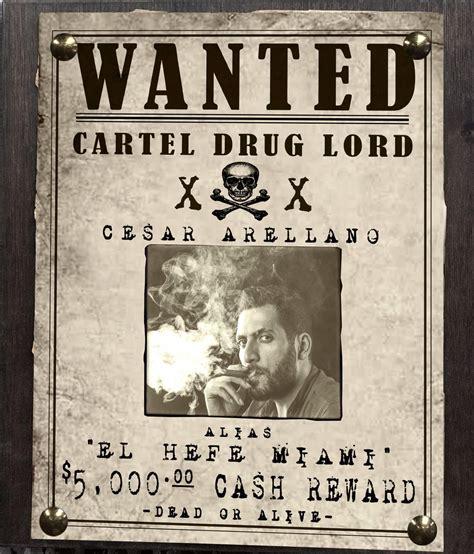 Cartel Narcos Boss Wanted Sign | Pistol Pete's