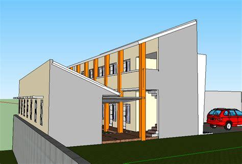 desain rumah kos  lereng  gang sempit multidesain