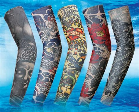 cycling sports uv block cool arm sleeves armwarmer cover sun protection skull bike