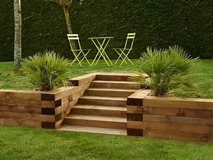 Bordure De Jardin : traverse bois paysag re en pin bordures bois et ~ Melissatoandfro.com Idées de Décoration