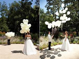 unique wedding ideas first look using balloons onewedcom With unique wedding photo ideas