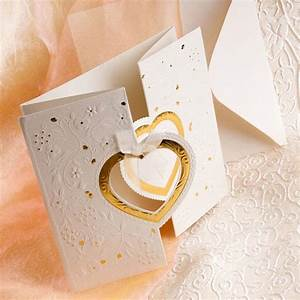 unique and elegant hearts embossed affordable folded With wedding invitations with hearts designs