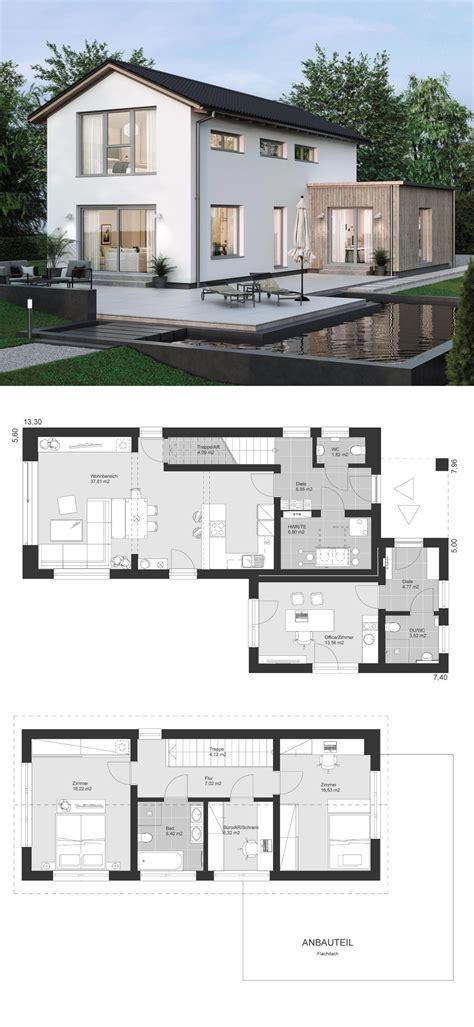 Moderne Häuser Architektur Grundriss by Einfamilienhaus Modern Grundriss Schmal Mit B 252 Ro Anbau