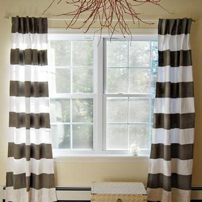 diy striped curtains window treatments tip junkie