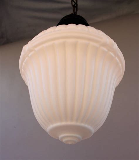 1920s milk glass pendant light for sale at 1stdibs