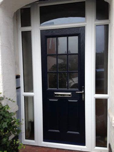panel  grill composite front door  blue