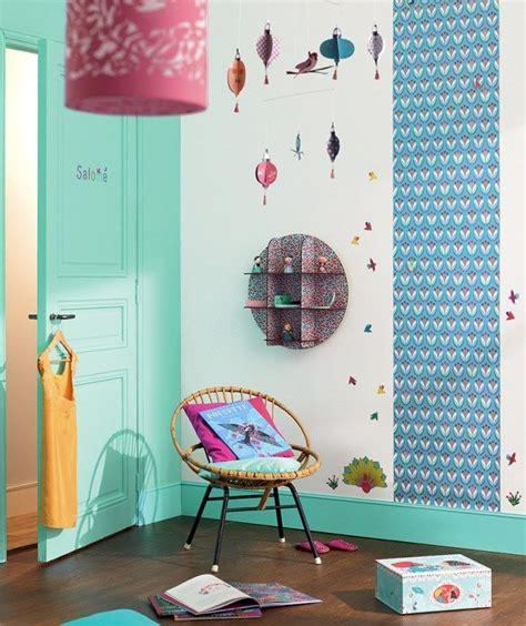 deco chambre chambre fille djeco turquoise