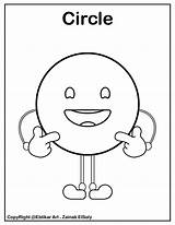 Coloring Pages Shapes Circle Emoji Shape Preschool Basic Preschoolers Printable Help sketch template
