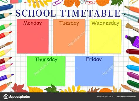 school timetable template  teachers  time table