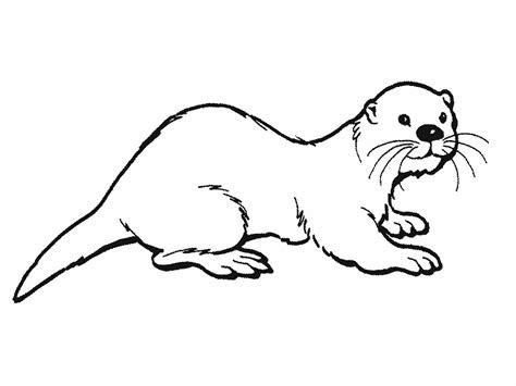 Kleuterdigitaal Otter Kleurplaat 02 Inheemse Dieren