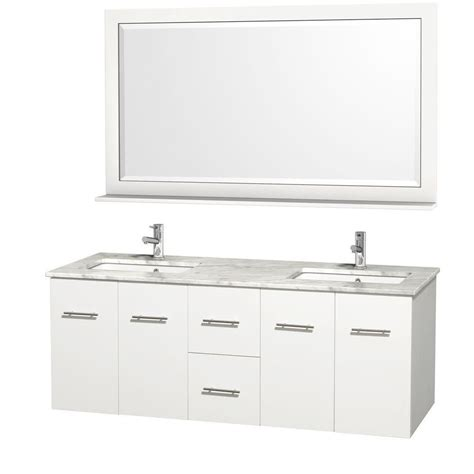 wyndham collection centra 60 inch w double vanity in white