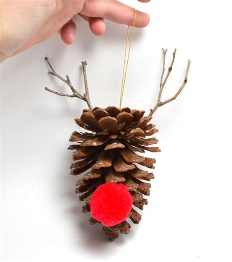 simple diy pine cone ornaments dream a little bigger