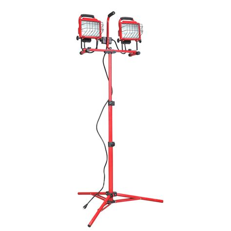 shop utilitech halogen stand work light at lowes