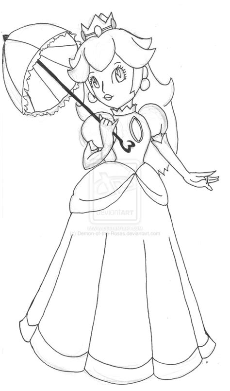 princess peach coloring pages    print