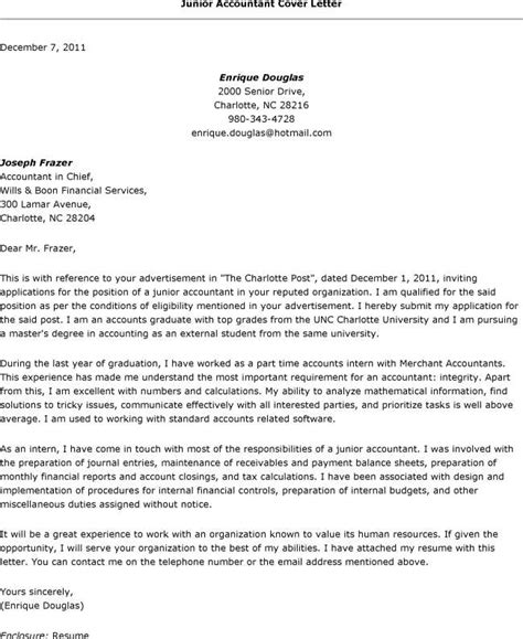 Resume Cover Letter Samples Accounting