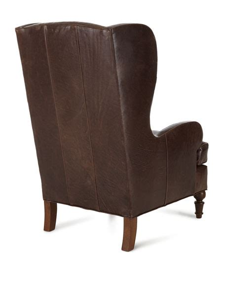 walker wing chair leather