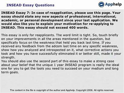 Essay Insead Questions