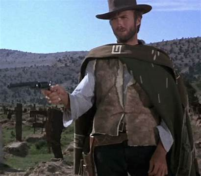 Clint Eastwood Gun Gifs Film Poncho Western
