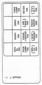 Kia Spectra  2003 - 2004  - Fuse Box Diagram