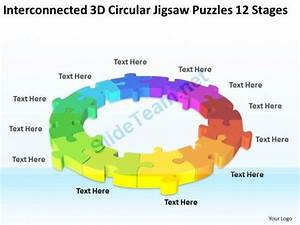 Work Flow Business Process Diagram 3d Circular Jigsaw