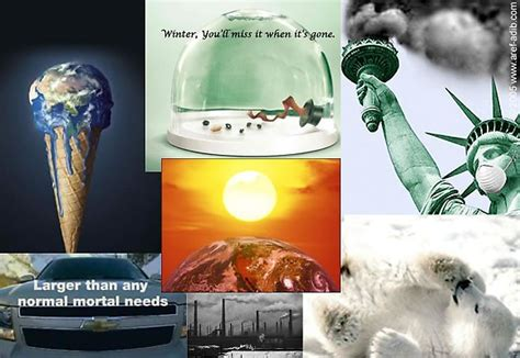 global warming advertisement collage  callalilycolors