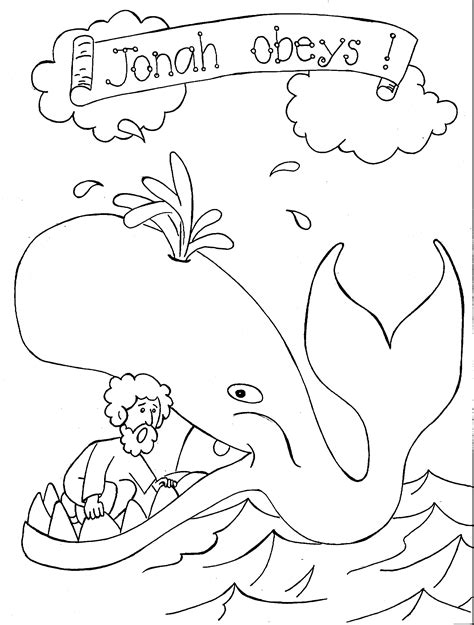 jonah and the whale coloring pages 340 | 03f4cc6eda822cd332f7952029e744ea