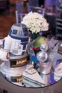 Kara, U0026, 39, S, Party, Ideas, Blue, And, Silver, Star, Wars, Birthday, Party