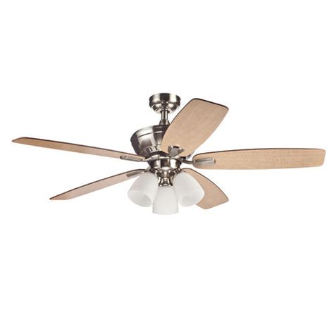turn of the century 174 langner 52 quot brushed nickel ceiling fan at menards 174