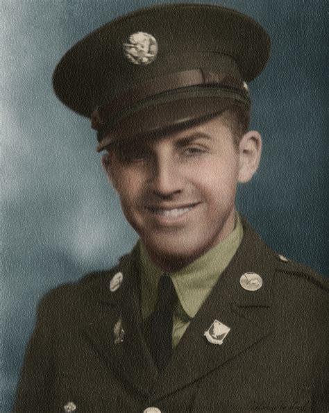 Wwii Us Army, Portrait In Dress Uniform Colorization