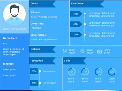 About Me/Self Intro PowerPoint Template | SketchBubble