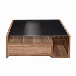 Table Basse Bois Foncé : table basse bois et verre ~ Teatrodelosmanantiales.com Idées de Décoration