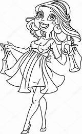 Shopping Coloring Pregnant Schwangere Frau Ausmalen Zum Pregnancy Pretty Recht Enceinte Vrij Femme Acquisto Incinta Donna Outline Umriss Dans Jaune sketch template