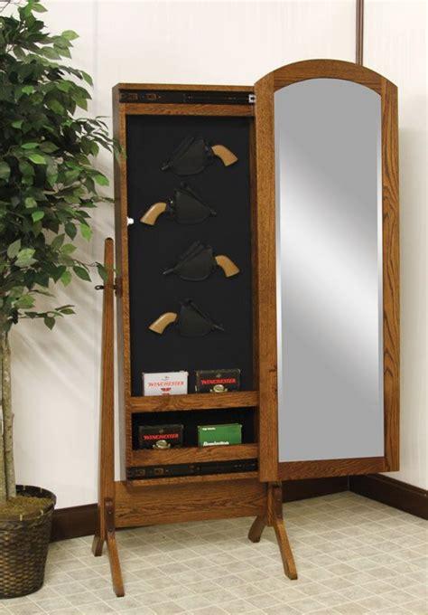 hidden gun cabinet furniture hidden gun cabinet mirror woodworking projects plans