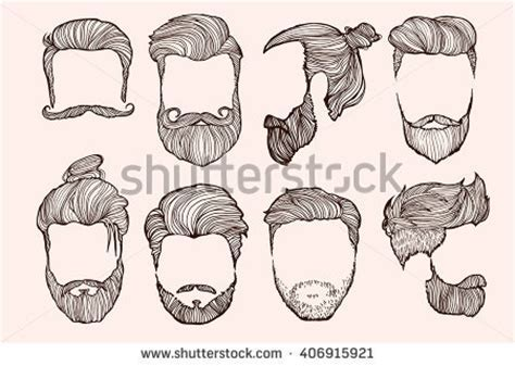 Man Hairstyle. Set Of Hand Drawn Sketches. Vector