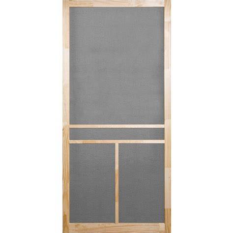 screen door home depot screen tight 36 in x 80 in unfinished wood t bar screen