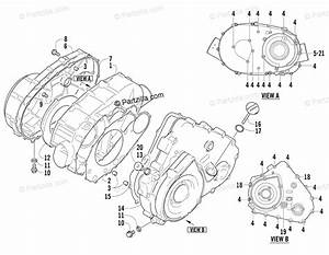 Arctic Cat Atv 2006 Oem Parts Diagram For Clutch  V Magneto Cover Assembly