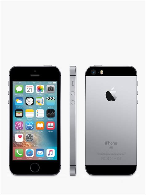 """Find information and product reviews. Apple iPhone SE, iOS 10, 4"""", 4G LTE, SIM Free, 32GB at John Lewis & Partners"""