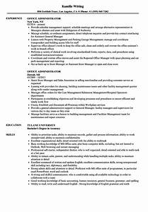 Resume Objective For Business Administration Office Administrator Resume Ipasphoto