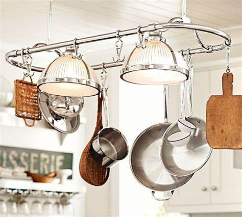 kitchen island lighting with pot rack cool kitchen storage ideas 9409