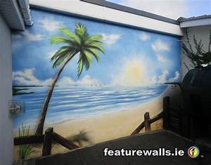 best 20 beach mural ideas on pinterest With best brand of paint for kitchen cabinets with fish scale wall art