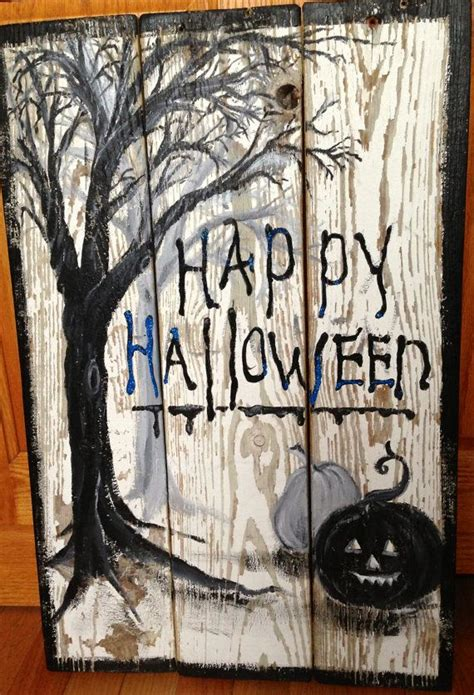 halloween pallet signs ideas  pinterest
