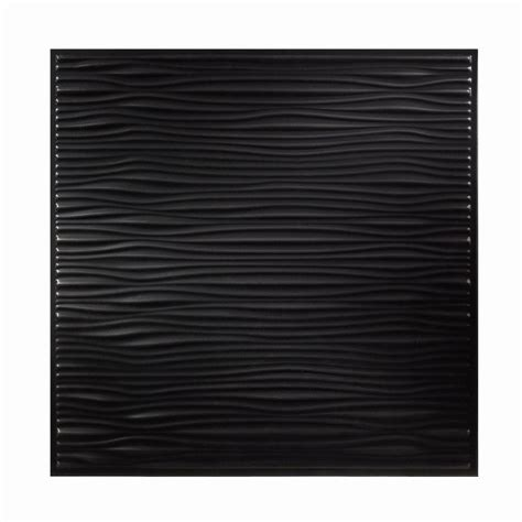 Genesis Drifts Ceiling Tile genesis 2 ft x 2 ft drifts black ceiling tile 751 07