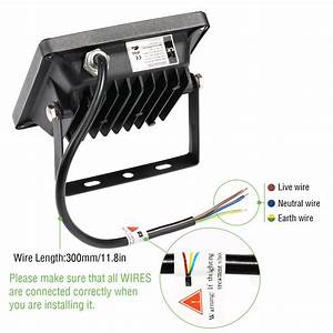 10 Watt Led Flood Light Daylight White Waterproof  Pack Of