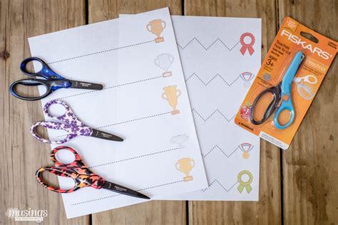 scissors cutting practice  preschoolers living  mom