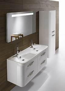 meubles de salle de bains suspendus double vasque en With salle de bain design avec vasque jacob delafon