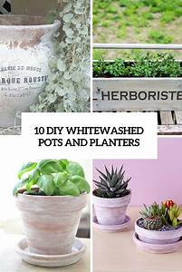 diy whitewashed pots Archives - Shelterness